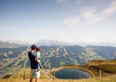 Saalbach über den Bergen
