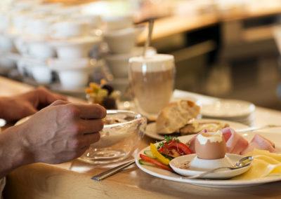 Frühstück im Haubiversum