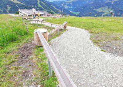 Die Holzkugelbahn auf der Latschenalm