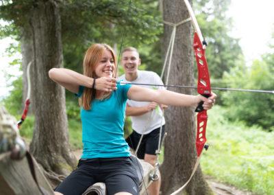 Spaß für die ganze Familie am Wurbauerkogel unter anderem mit Bogenschießen