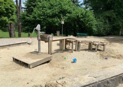 Riesen Sandkasten im Botanischen Garten