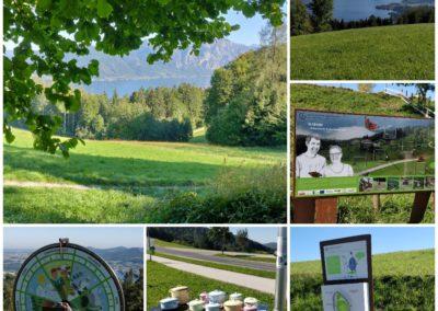 Der familienfreundliche Wanderweg auf den Gmundnerberg in Altmünster in Salzkammergut ist immer für Überraschungen am Wegesrand gut