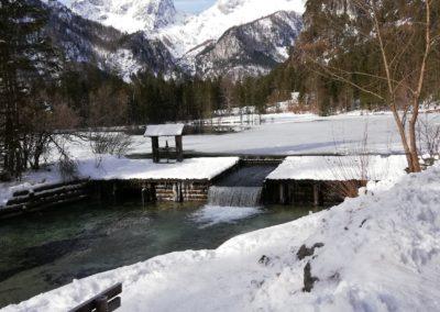 Traumhafte Kulisse am Schiederweiher im Winter.