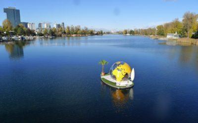 Boot fahren auf der Alten Donau