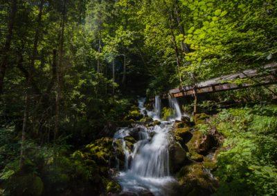 Imposanter Wasserfall am Themenweg Mendlingtal