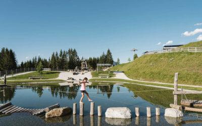 Der Wasserspielplatz im Serlespark